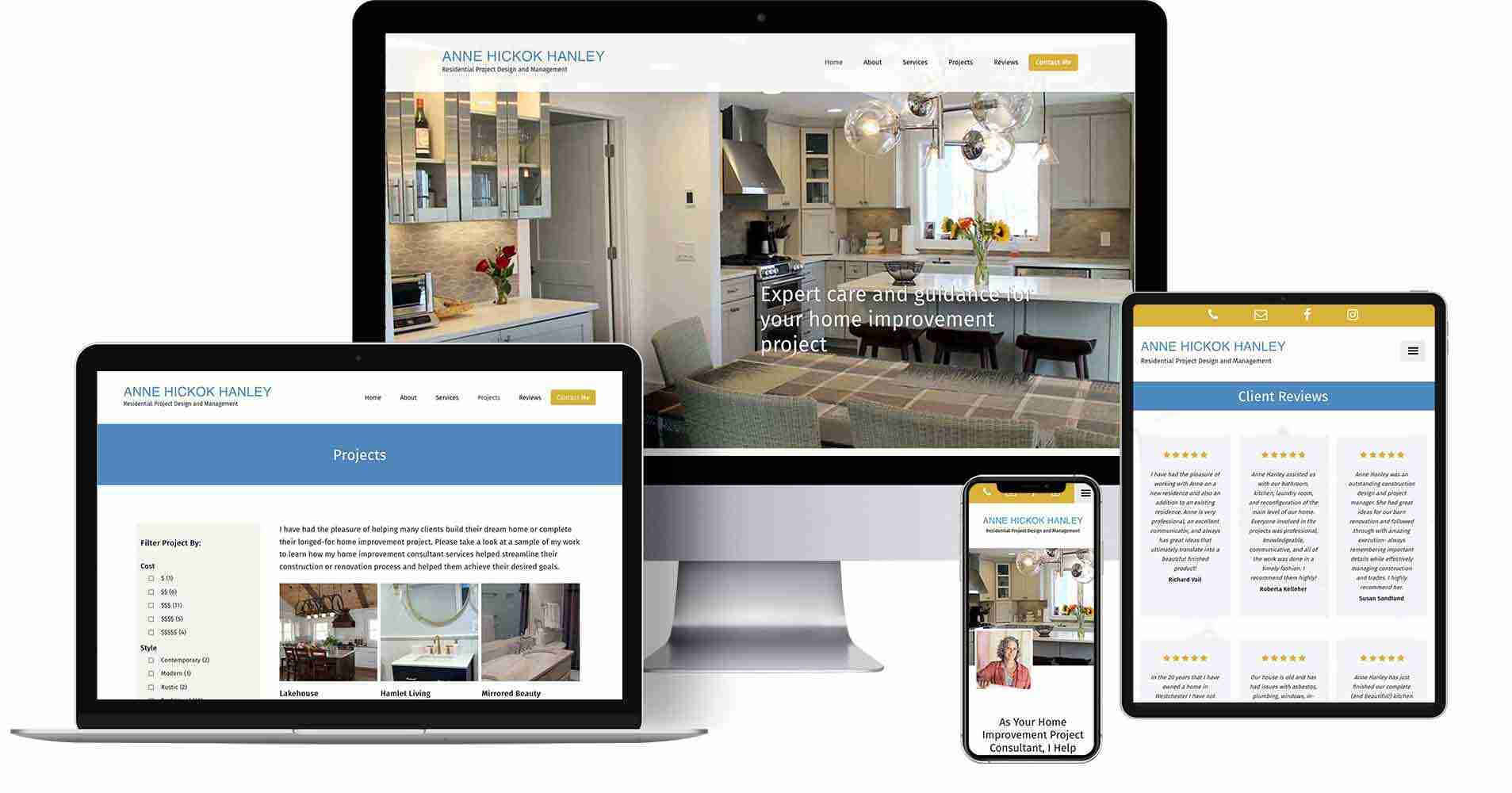 Recent projects - Renovation Consultant Website - Anne Hickok Hanley