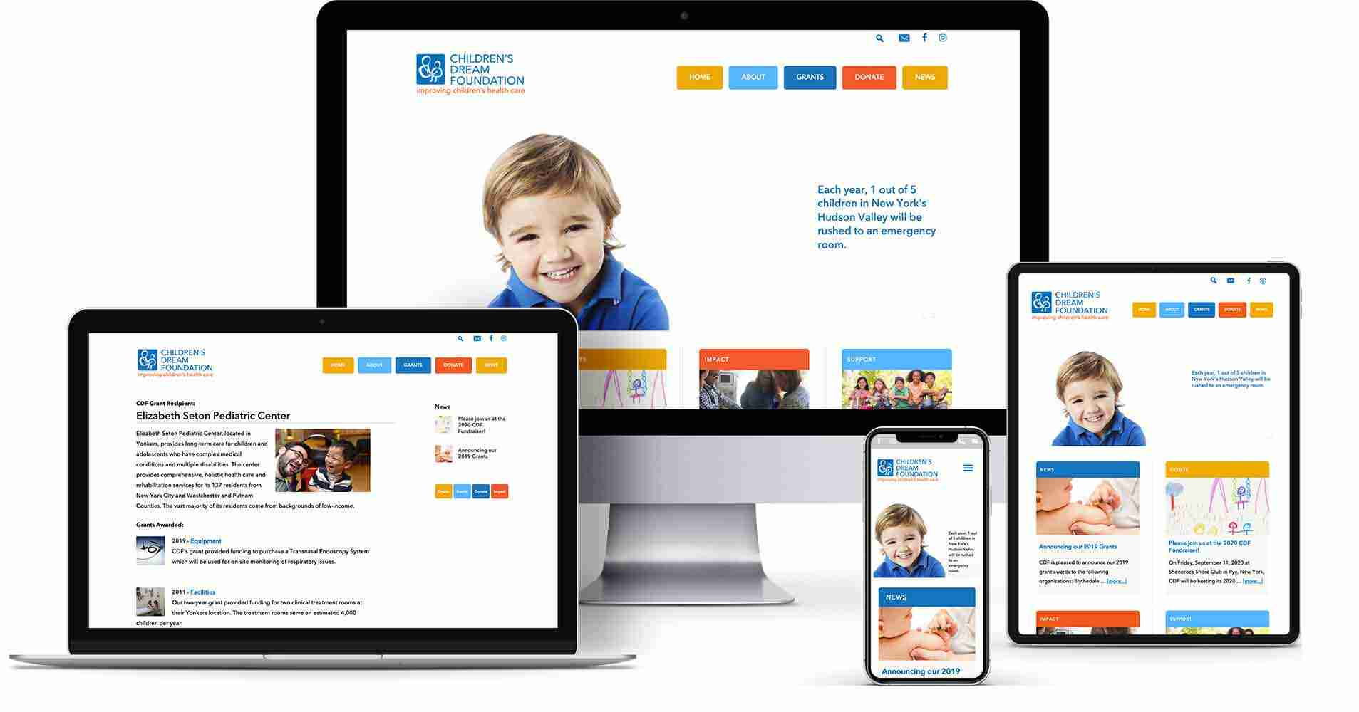 Recent projects - non-profit website - The Children's Dream Foundation