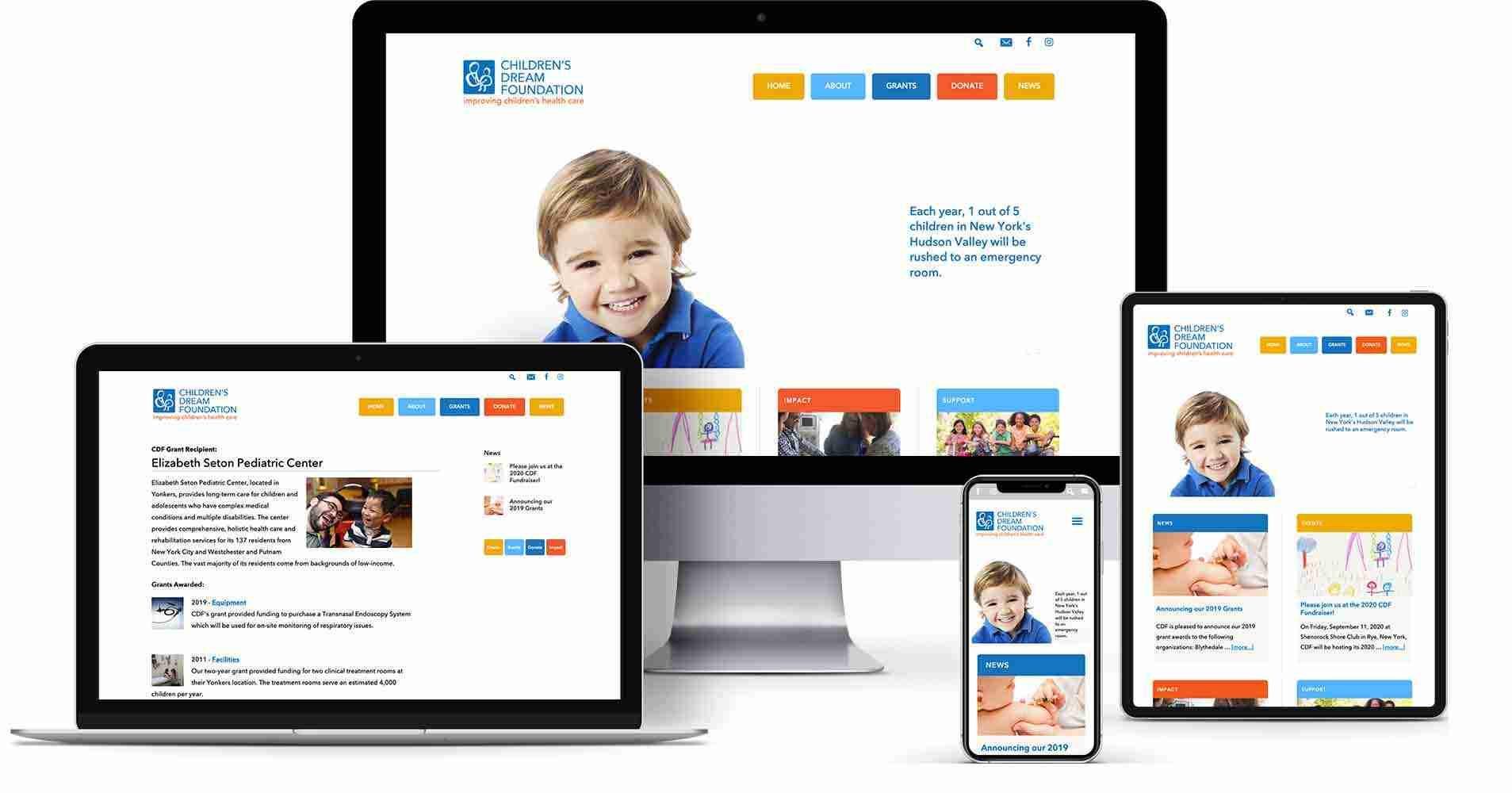 Non-profit website - The Children's Dream Foundation