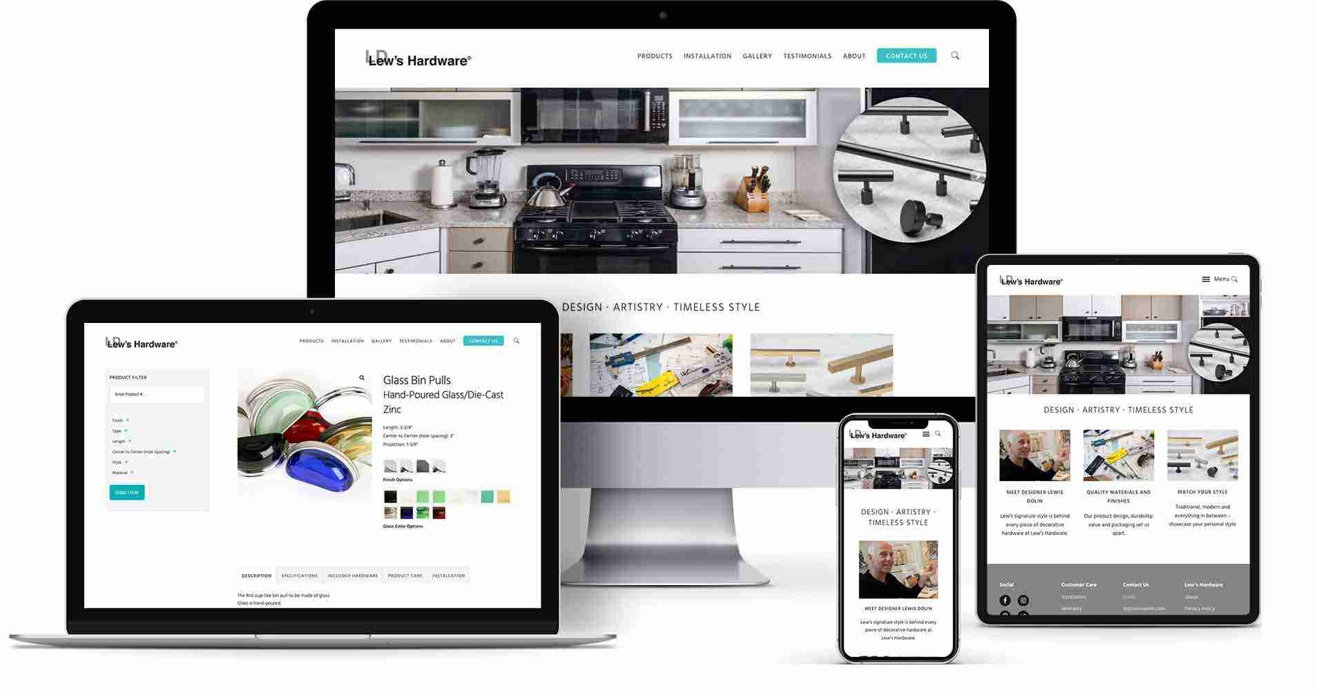 Recent project - Lew's Hardware showcase catalog website
